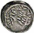 Photo numismatique  ARCHIVES VENTE 2015 -26-28 oct -Coll Jean Teitgen DUCHE DE LORRAINE FERRI III (1251-1303)  1052- Denier avec FERI et écu, Nancy.