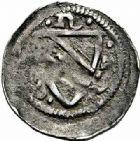Photo numismatique  ARCHIVES VENTE 2015 -26-28 oct -Coll Jean Teitgen DUCHE DE LORRAINE FERRI III (1251-1303)  1053- Denier avec F et écu, Nancy.