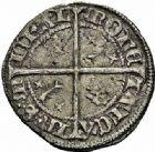 Photo numismatique  ARCHIVES VENTE 2015 -26-28 oct -Coll Jean Teitgen DUCHÉ DE LORRAINE CHARLES II, maimbourg de René du Barrois (1420-1424)  1092- Quart de gros ou carolus, Saint-Mihiel.