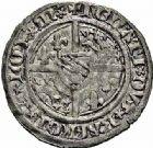Photo numismatique  ARCHIVES VENTE 2015 -26-28 oct -Coll Jean Teitgen DUCHÉ DE LORRAINE RENE Ier d'Anjou (1431-1453)  1099- Demi-gros, Saint-Mihiel.
