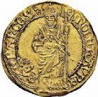 Photo numismatique  ARCHIVES VENTE 2015 -26-28 oct -Coll Jean Teitgen DUCHÉ DE LORRAINE RENE II de Vaudémont, duc  de Bar (1473-1508)  1106- Florin au saint Nicolas, à partir de 1496.