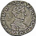 Photo numismatique  ARCHIVES VENTE 2015 -26-28 oct -Coll Jean Teitgen DUCHÉ DE LORRAINE CHARLES III, le Grand Duc (1545-1608)  1136- Quart de teston.