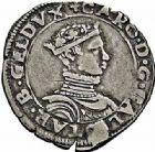 Photo numismatique  ARCHIVES VENTE 2015 -26-28 oct -Coll Jean Teitgen DUCHÉ DE LORRAINE CHARLES III, le Grand Duc (1545-1608)  1137- Quart de teston, Nancy 1554.