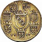 Photo numismatique  ARCHIVES VENTE 2015 -26-28 oct -Coll Jean Teitgen DUCHÉ DE LORRAINE CHARLES III, le Grand Duc (1545-1608)  1140- Reproduction coulée du Thaler 1557.