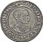 Photo numismatique  ARCHIVES VENTE 2015 -26-28 oct -Coll Jean Teitgen DUCHÉ DE LORRAINE CHARLES III, le Grand Duc (1545-1608) Monnayage de 1556 à 1557 et de 1557 à 1561 (') 1141- Thaler, Nancy.