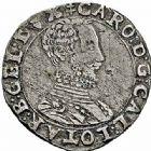 Photo numismatique  ARCHIVES VENTE 2015 -26-28 oct -Coll Jean Teitgen DUCHÉ DE LORRAINE CHARLES III, le Grand Duc (1545-1608) Monnayage de 1564 à 1574 1146- Quart de teston, Nancy.