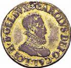 Photo numismatique  ARCHIVES VENTE 2015 -26-28 oct -Coll Jean Teitgen DUCHÉ DE LORRAINE CHARLES III, le Grand Duc (1545-1608) Monnayage de 1581 à 1608 1151- Demi-thaler ou florin d'argent, Nancy 1581.