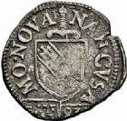 Photo numismatique  ARCHIVES VENTE 2015 -26-28 oct -Coll Jean Teitgen DUCHÉ DE LORRAINE CHARLES III, le Grand Duc (1545-1608) Monnayage de 1581 à 1608 1153- Demi-sol carolus, Nancy 1581.