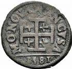 Photo numismatique  ARCHIVES VENTE 2015 -26-28 oct -Coll Jean Teitgen DUCHÉ DE LORRAINE CHARLES III, le Grand Duc (1545-1608) Monnayage de 1581 à 1608 1155- Double denier, Nancy 1581.