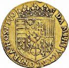 Photo numismatique  ARCHIVES VENTE 2015 -26-28 oct -Coll Jean Teitgen DUCHÉ DE LORRAINE CHARLES III, le Grand Duc (1545-1608) Monnayage de 1581 à 1608 1156- Double pistole d'or, non datée.