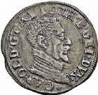 Photo numismatique  ARCHIVES VENTE 2015 -26-28 oct -Coll Jean Teitgen DUCHÉ DE LORRAINE CHARLES III, le Grand Duc (1545-1608) Monnayage de 1581 à 1608 1161- Teston, Nancy.