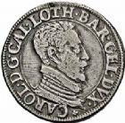 Photo numismatique  ARCHIVES VENTE 2015 -26-28 oct -Coll Jean Teitgen DUCHÉ DE LORRAINE CHARLES III, le Grand Duc (1545-1608) Monnayage de 1581 à 1608 1163- Teston, Nancy 1587.