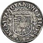 Photo numismatique  ARCHIVES VENTE 2015 -26-28 oct -Coll Jean Teitgen DUCHÉ DE LORRAINE CHARLES III, le Grand Duc (1545-1608) Monnayage de 1581 à 1608 1164- Quart de teston, Nancy 1587.