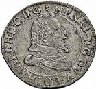 Photo numismatique  ARCHIVES VENTE 2015 -26-28 oct -Coll Jean Teitgen DUCHÉ DE LORRAINE HENRI II, le Bon Duc (1608-1624)  1178- Teston, Nancy 1615.