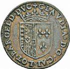 Photo numismatique  ARCHIVES VENTE 2015 -26-28 oct -Coll Jean Teitgen DUCHÉ DE LORRAINE HENRI II, le Bon Duc (1608-1624)  1190- Jeton de Claude de France (fille du roi Henri II).