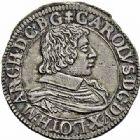 Photo numismatique  ARCHIVES VENTE 2015 -26-28 oct -Coll Jean Teitgen DUCHÉ DE LORRAINE CHARLES IV, 1ère période (1626-1634)  1201- Teston, Nancy 1627.