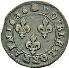 Photo numismatique  ARCHIVES VENTE 2015 -26-28 oct -Coll Jean Teitgen DUCHÉ DE LORRAINE OCCUPATION FRANCAISE (1633-1661) Louis XIII (1610-1643) 1210- Double lorrain, Stenay, 1636.