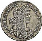 Photo numismatique  ARCHIVES VENTE 2015 -26-28 oct -Coll Jean Teitgen DUCHÉ DE LORRAINE CHARLES IV, 2ème période (1661-1675)  1214- Demi- écu ou petit écu d'argent, Paris, 1665.