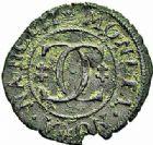 Photo numismatique  ARCHIVES VENTE 2015 -26-28 oct -Coll Jean Teitgen DUCHÉ DE LORRAINE CHARLES IV, 2ème période (1661-1675)  1222- Liard ou blanc de quatre deniers, Nancy.