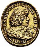 Photo numismatique  ARCHIVES VENTE 2015 -26-28 oct -Coll Jean Teitgen DUCHÉ DE LORRAINE CHARLES IV, 2ème période (1661-1675)  1223- Médaille en or, (1669).
