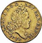 Photo numismatique  ARCHIVES VENTE 2015 -26-28 oct -Coll Jean Teitgen DUCHÉ DE LORRAINE LEOPOLD Ier (1690-1729)  1245- Demi-léopold d'or, 1718.