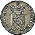 Photo numismatique  ARCHIVES VENTE 2015 -26-28 oct -Coll Jean Teitgen DUCHÉ DE LORRAINE LEOPOLD Ier (1690-1729)  1248- Demi-teston, 1719 (9 sur 1).