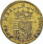 Photo numismatique  ARCHIVES VENTE 2015 -26-28 oct -Coll Jean Teitgen DUCHÉ DE LORRAINE LEOPOLD Ier (1690-1729)  1251- Demi-léopold d'or, 1724.
