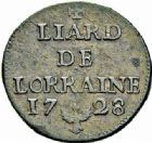 Photo numismatique  ARCHIVES VENTE 2015 -26-28 oct -Coll Jean Teitgen DUCHÉ DE LORRAINE LEOPOLD Ier (1690-1729)  1261- Liard, 1728.