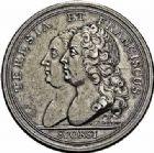 Photo numismatique  ARCHIVES VENTE 2015 -26-28 oct -Coll Jean Teitgen DUCHÉ DE LORRAINE FRANCOIS III (1729-1737)  1267- Médaille allemande du mariage, 12 février 1736.