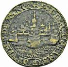 Photo numismatique  ARCHIVES VENTE 2015 -26-28 oct -Coll Jean Teitgen DUCHÉ DE LORRAINE JETONS de l'HÔTEL DE VILLE DE NANCY  1285- Perspective de la ville-vieille de Nancy. Jeton, 1626.