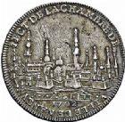 Photo numismatique  ARCHIVES VENTE 2015 -26-28 oct -Coll Jean Teitgen DUCHÉ DE LORRAINE JETONS de l'HÔTEL DE VILLE DE NANCY  1291- Jeton, 1702. Revers daté 1699.