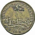 Photo numismatique  ARCHIVES VENTE 2015 -26-28 oct -Coll Jean Teitgen DUCHÉ DE LORRAINE MEDAILLES  et JETONS des SAINT-URBAIN Jetons 1297- Jeton de Charles V, duc et prétendant.