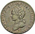 Photo numismatique  ARCHIVES VENTE 2015 -26-28 oct -Coll Jean Teitgen DUCHÉ DE LORRAINE MEDAILLES  et JETONS des SAINT-URBAIN Jetons 1300- Grand jeton ou médaille d'Élisabeth-Charlotte, duchesse de Lorraine, 1715.