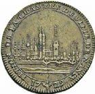 Photo numismatique  ARCHIVES VENTE 2015 -26-28 oct -Coll Jean Teitgen DUCHÉ DE LORRAINE MEDAILLES  et JETONS des SAINT-URBAIN Jetons 1304- Jeton de 1729.