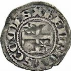 Photo numismatique  ARCHIVES VENTE 2015 -26-28 oct -Coll Jean Teitgen LOCALITES APPARENTEES A LA LORRAINE Comtes de BAR - HENRI II (ou III) (1214-1240)  1305- Denier, Bar-le-Duc.