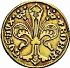 Photo numismatique  ARCHIVES VENTE 2015 -26-28 oct -Coll Jean Teitgen LOCALITES APPARENTEES A LA LORRAINE Duc de BAR - ROBERT (1352-1412)  1306- Florin d'or, Bar-le-Duc.