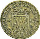 Photo numismatique  ARCHIVES VENTE 2015 -26-28 oct -Coll Jean Teitgen LOCALITES APPARENTEES A LA LORRAINE Chambre des comptes  de BAR  1308- Jeton de la Chambre de la ville de Bar, 1656.