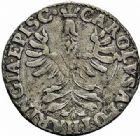 Photo numismatique  ARCHIVES VENTE 2015 -26-28 oct -Coll Jean Teitgen LOCALITES APPARENTEES A LA LORRAINE VERDUN Charles de LORRAINE-CAHLIGNY (1611-1622) 1311- Double denier, imitant le type ducal à l'alérion.