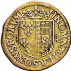 Photo numismatique  ARCHIVES VENTE 2015 -26-28 oct -Coll Jean Teitgen LOCALITES APPARENTEES A LA LORRAINE Seigneurie de CHATEAU-REGNAULT Fr de BOURBON et Louise-Marguerite de LORRAINE (1605-1614) 1313- Florin d'or.