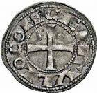 Photo numismatique  ARCHIVES VENTE 2015 -26-28 oct -Coll Jean Teitgen BEARN ET NAVARRE Seigneurie de BEARN CENTULLE (XIIe - XIIIe siècles) 1321- Denier.
