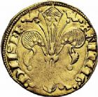 Photo numismatique  ARCHIVES VENTE 2015 -26-28 oct -Coll Jean Teitgen BEARN ET NAVARRE Seigneurie de BEARN GASTON PHEBUS (1343-1391) 1324- Florin d'or.