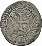 Photo numismatique  ARCHIVES VENTE 2015 -26-28 oct -Coll Jean Teitgen BEARN ET NAVARRE Seigneurie de BEARN CATHERINE (1483-1484) 1334- Blanc d'argent, Morlaàs.