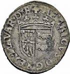 Photo numismatique  ARCHIVES VENTE 2015 -26-28 oct -Coll Jean Teitgen BEARN ET NAVARRE Seigneurie de BEARN HENRI Ier D'Albret, II de Navarre (1516-1555) 1340- Douzain à la croisette.