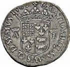 Photo numismatique  ARCHIVES VENTE 2015 -26-28 oct -Coll Jean Teitgen BEARN ET NAVARRE Seigneurie de BEARN ANTOINE de Bourbon et JEANNE d'Albret (1555-1562) 1345- Teston aux bustes affrontés, Morlaàs 1562.