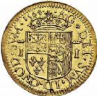 Photo numismatique  ARCHIVES VENTE 2015 -26-28 oct -Coll Jean Teitgen BEARN ET NAVARRE Seigneurie de BEARN JEANNE D'ALBRET (1562-1572) 1351- Écu d'or, Pau 1564.