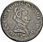 Photo numismatique  ARCHIVES VENTE 2015 -26-28 oct -Coll Jean Teitgen BEARN ET NAVARRE Seigneurie de BEARN JEANNE D'ALBRET (1562-1572) 1352- Teston, Pau 1565.