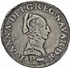 Photo numismatique  ARCHIVES VENTE 2015 -26-28 oct -Coll Jean Teitgen BÉARN ET NAVARRE Seigneurie de BEARN JEANNE D'ALBRET (1562-1572) 1353- Teston, Pau 1566.