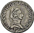 Photo numismatique  ARCHIVES VENTE 2015 -26-28 oct -Coll Jean Teitgen BÉARN ET NAVARRE Seigneurie de BEARN JEANNE D'ALBRET (1562-1572) 1355- Demi-teston, Pau 1564.