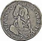 Photo numismatique  ARCHIVES VENTE 2015 -26-28 oct -Coll Jean Teitgen BEARN ET NAVARRE Seigneurie de BEARN JEANNE D'ALBRET (1562-1572) 1357- Teston au buste âgé et au revers non accosté, Pau 1571.