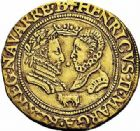 Photo numismatique  ARCHIVES VENTE 2015 -26-28 oct -Coll Jean Teitgen BEARN ET NAVARRE Seigneurie de BEARN HENRI II (1572-1589) 1358- Double ducat d'or, Pau 1577.